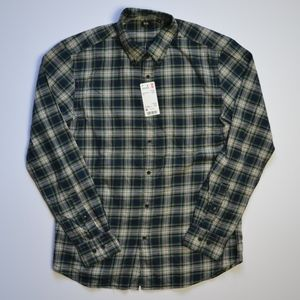 Uniqlo Flannel Checked Long Sleeved Shirt NWT